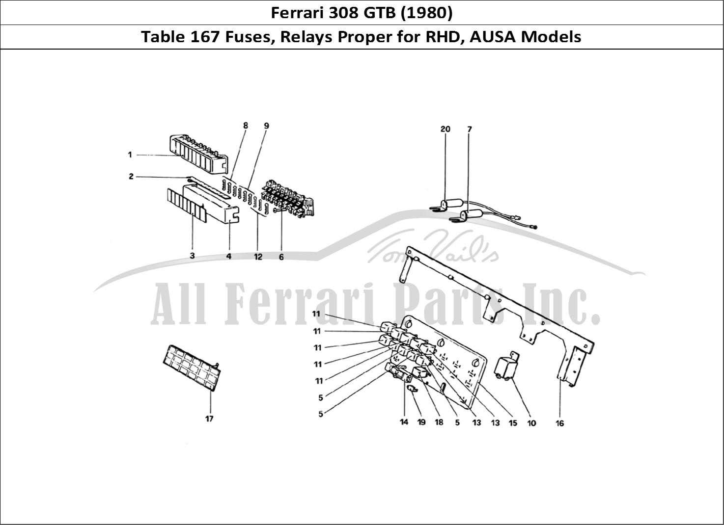 Buy original Ferrari 308 GTB (1980) 167 Fuses, Relays
