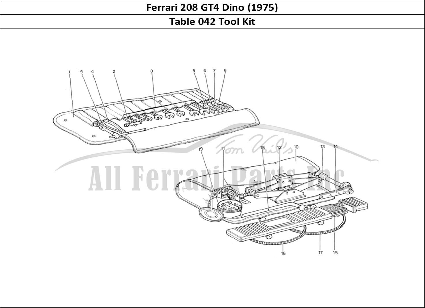 Buy Original Ferrari 208 Gt4 Dino 042 Tool Kit