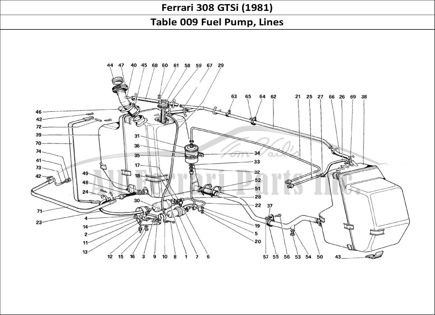 Buy original Ferrari 308 GTSi (1981) 009 Fuel Pump, Lines