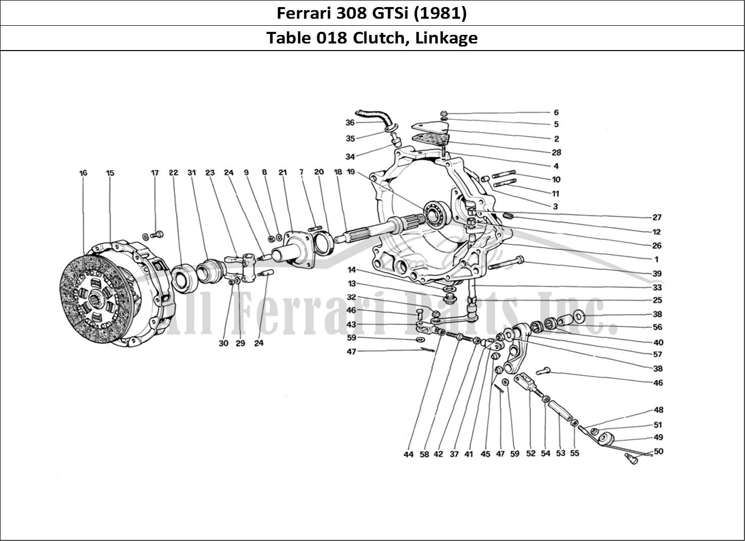Buy original Ferrari 308 GTSi (1981) 018 Clutch, Linkage