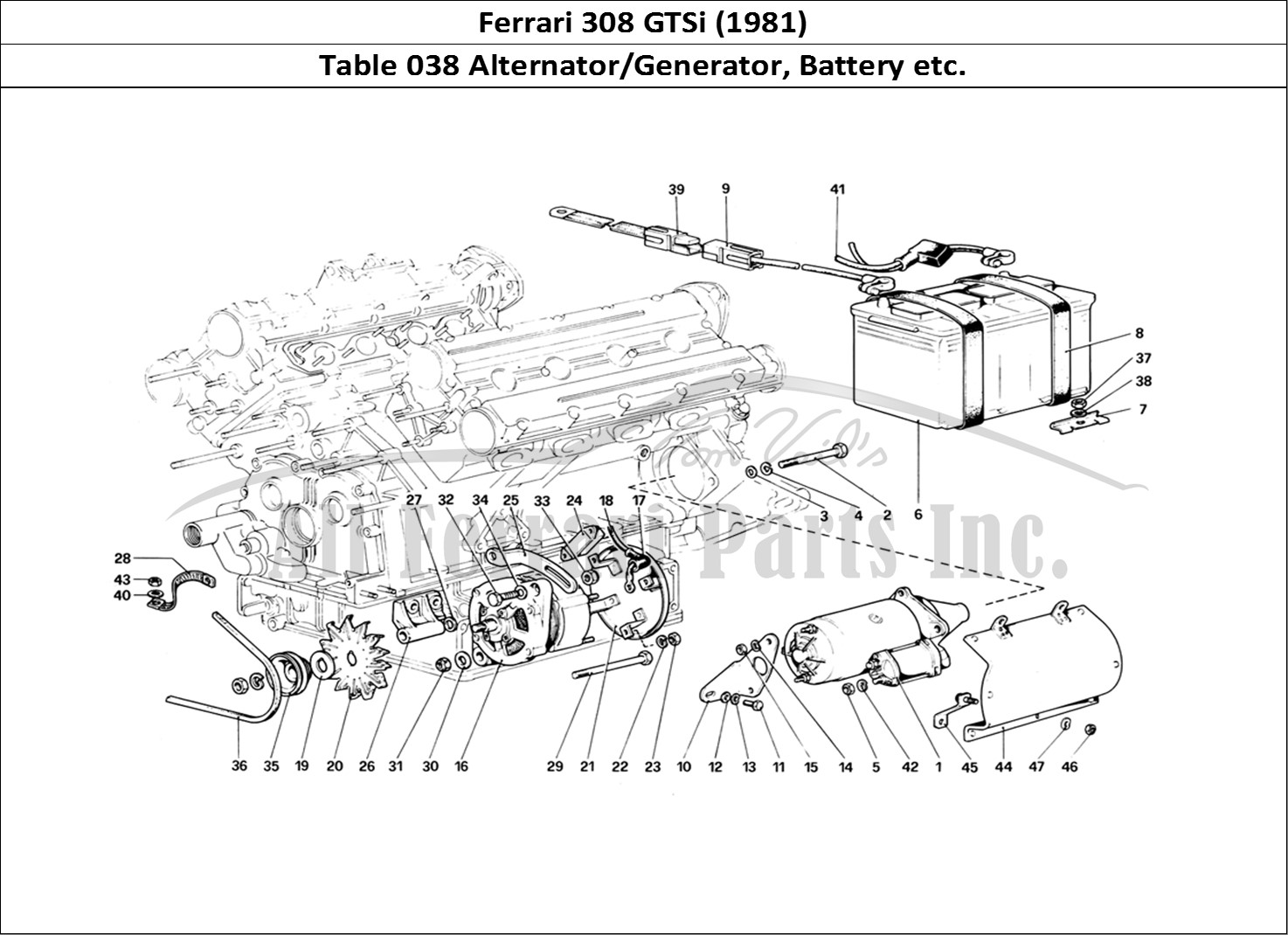 Buy original Ferrari 308 GTSi (1981) 038 Alternator