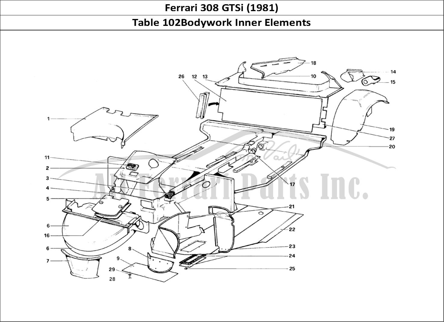 Buy original Ferrari 308 GTSi (1981) 102Bodywork Inner
