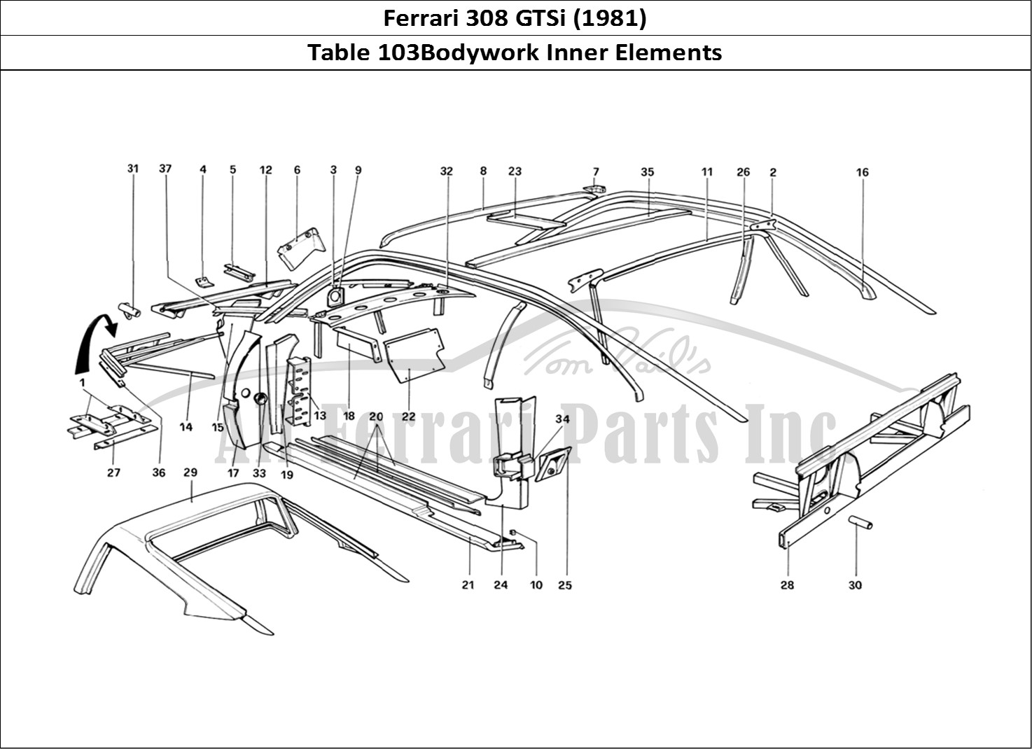 Buy original Ferrari 308 GTSi (1981) 103Bodywork Inner