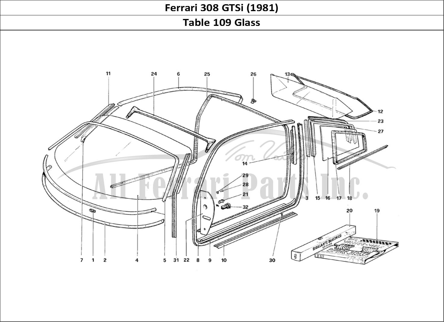 Buy original Ferrari 308 GTSi (1981) 109 Glass Ferrari