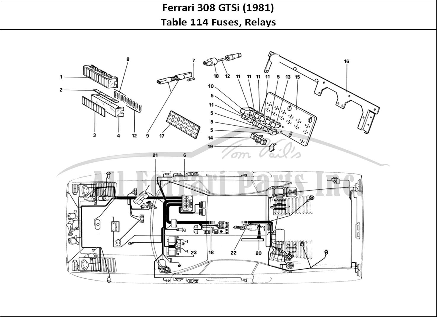 Buy original Ferrari 308 GTSi (1981) 114 Fuses, Relays