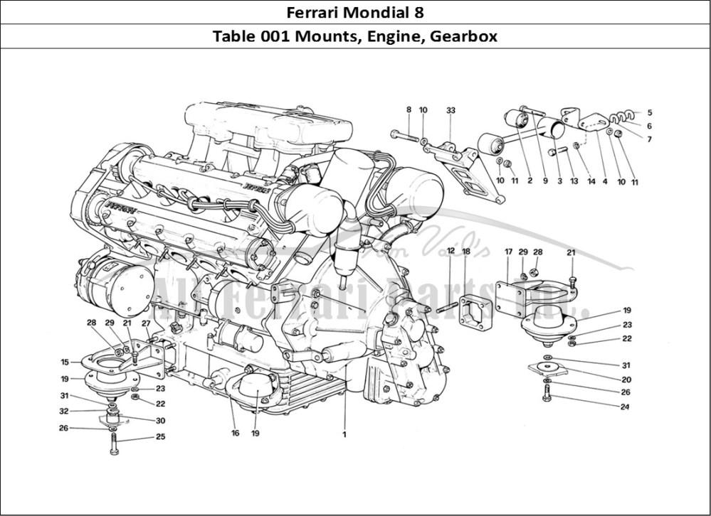 medium resolution of buy original ferrari mondial 8 001 mounts engine gearbox ferrariferrari mondial 8 mechanical table