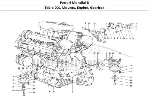 small resolution of buy original ferrari mondial 8 001 mounts engine gearbox ferrariferrari mondial 8 mechanical table