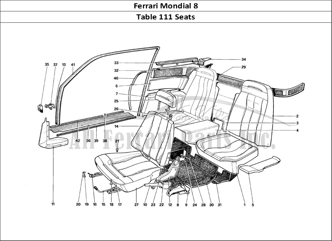 Buy original Ferrari Mondial 8 111 Seats Ferrari parts