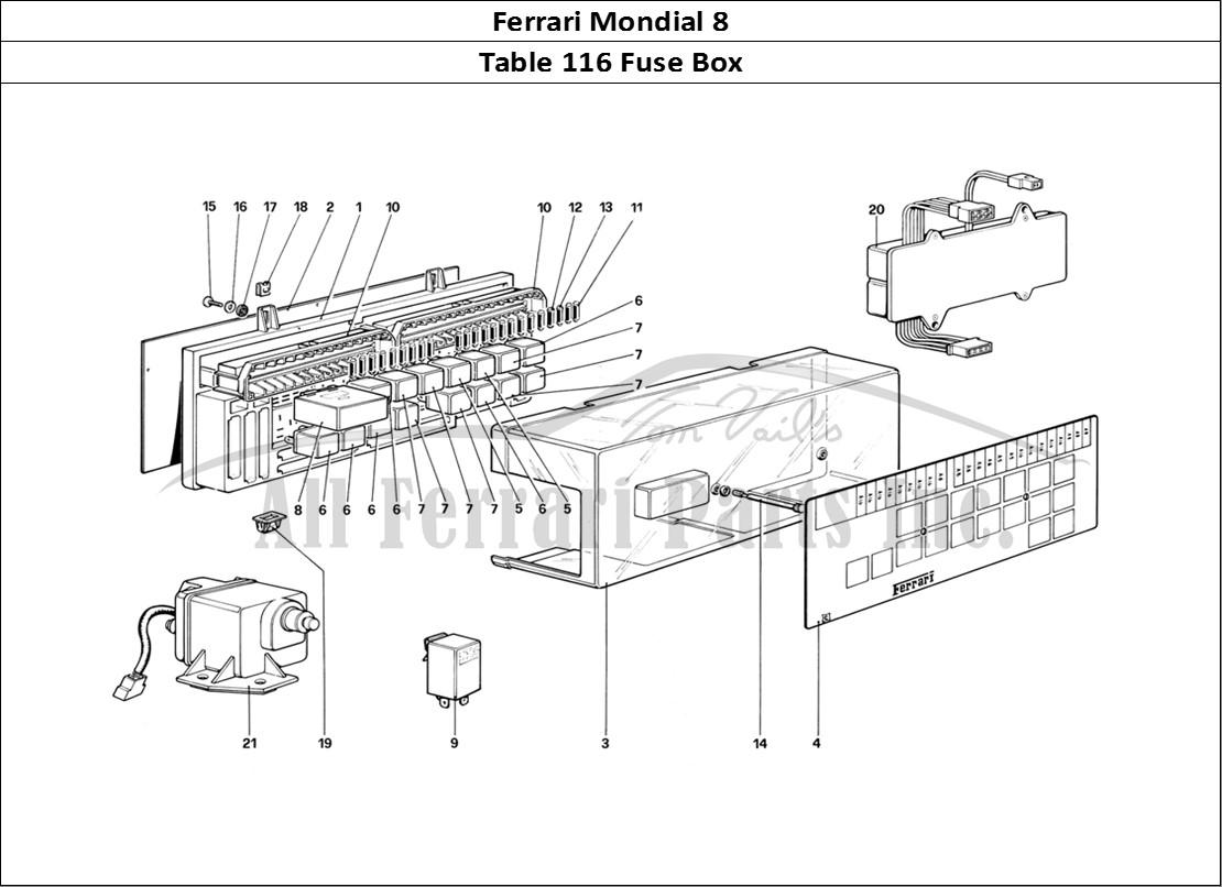 Buy Original Ferrari Mondial 8 116 Fuse Box Ferrari Parts