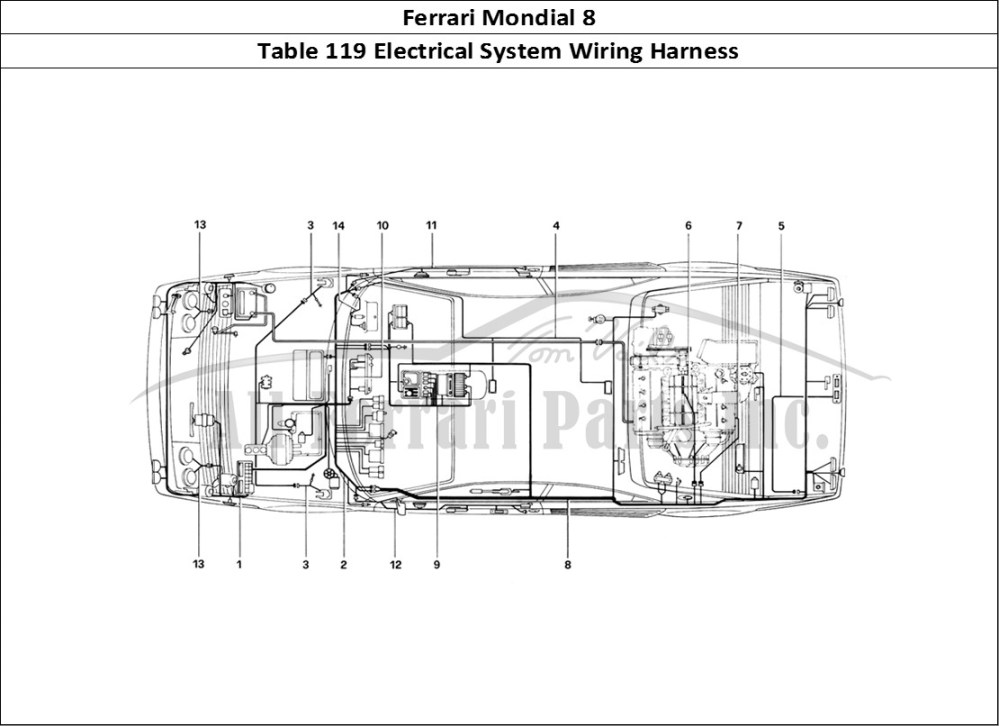 medium resolution of buy original ferrari mondial 8 119 electrical system wiring harness global electric motorcars wiring diagrams ferrari electrical wiring diagram