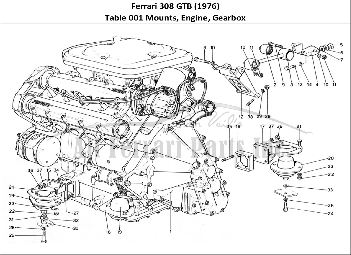 Buy original Ferrari 308 GTB (1976) 001 Mounts, Engine