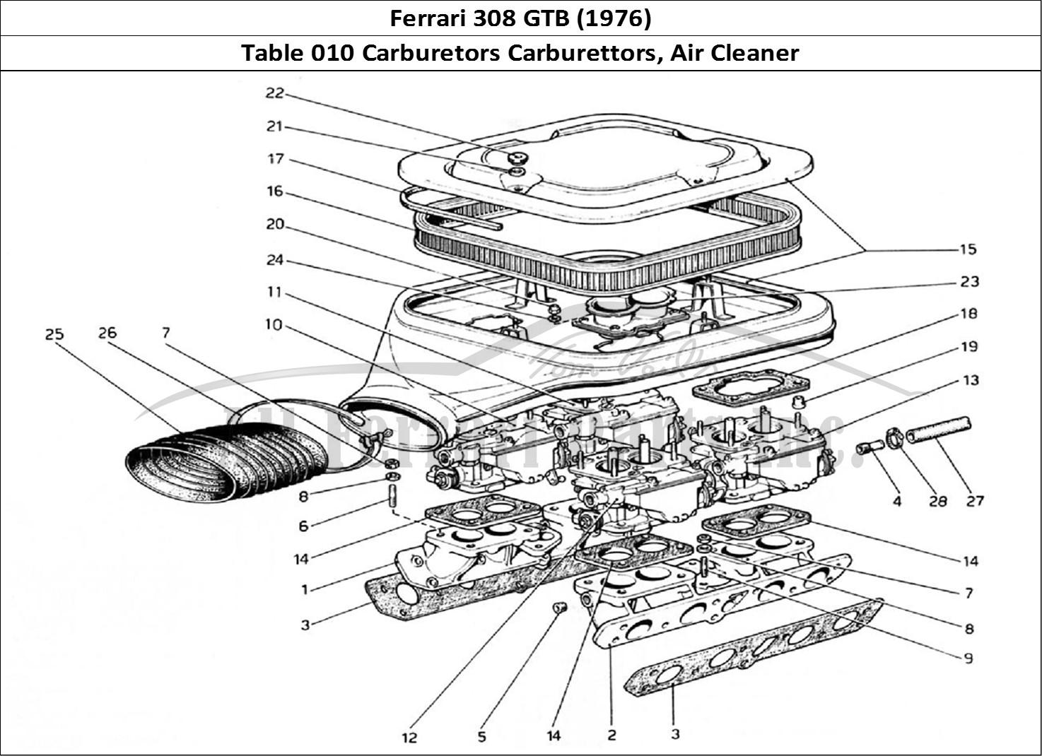Buy original Ferrari 308 GTB (1976) 010 Carburetors