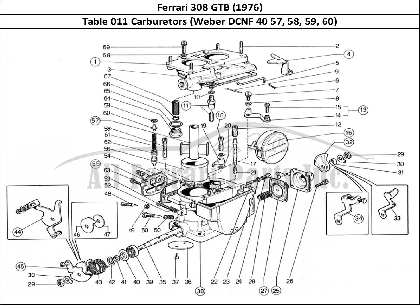 Buy original Ferrari 308 GTB (1976) 011 Carburetors (Weber