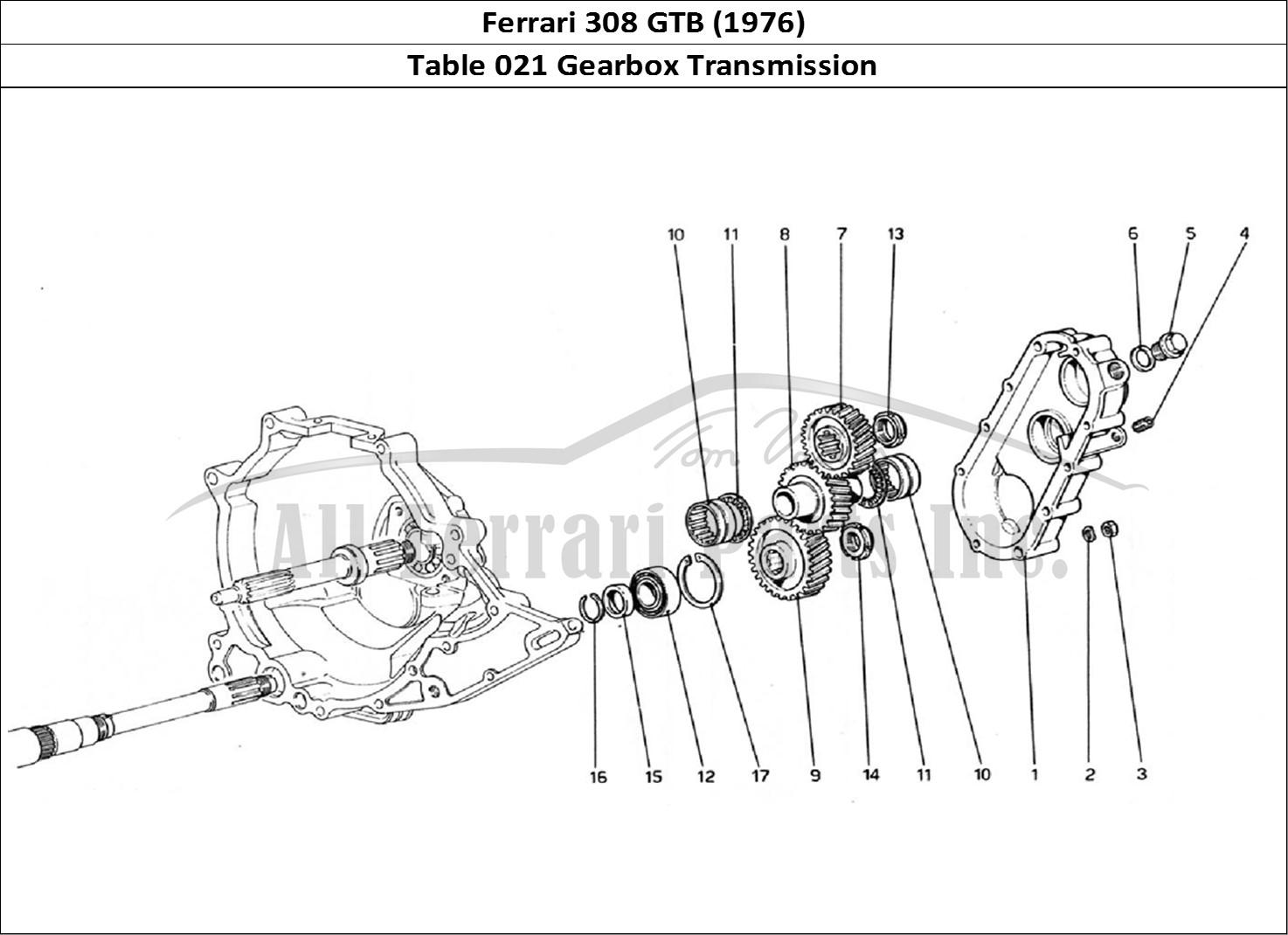 Buy original Ferrari 308 GTB (1976) 021 Gearbox
