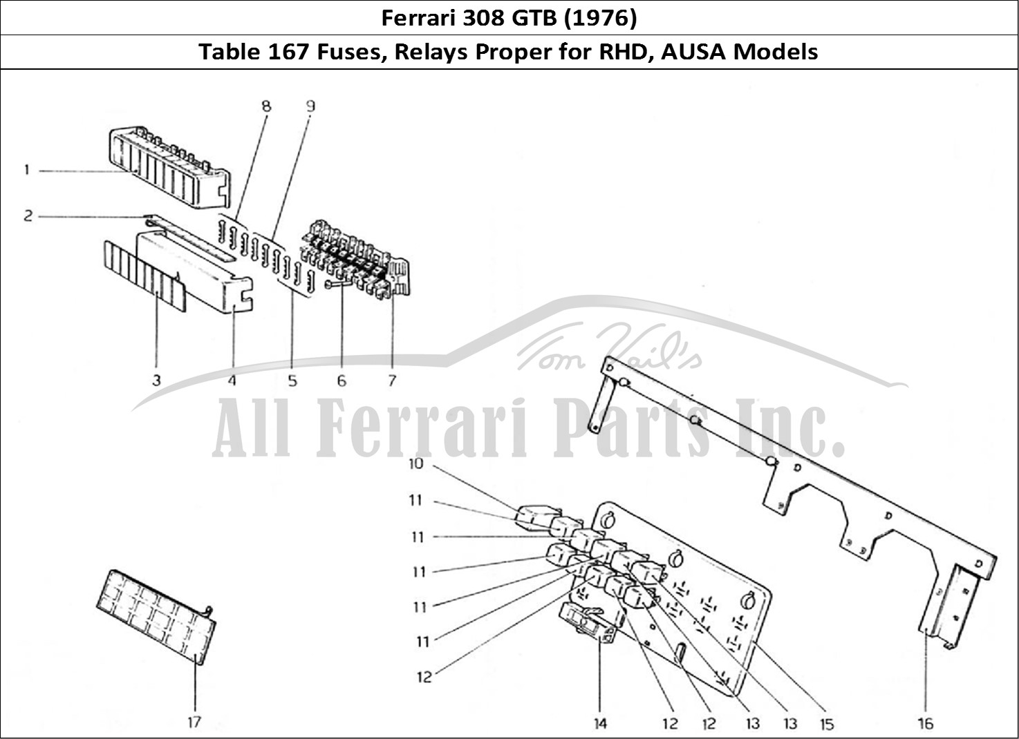 Buy original Ferrari 308 GTB (1976) 167 Fuses, Relays