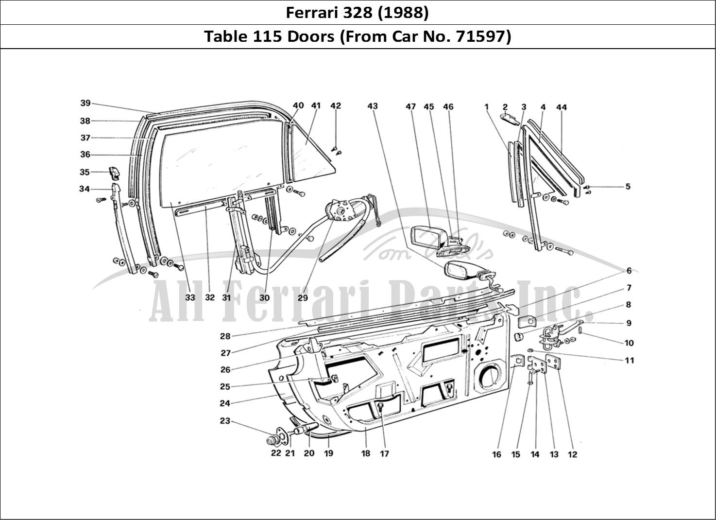 Buy original Ferrari 328 (1988) 115 Doors (From Car No