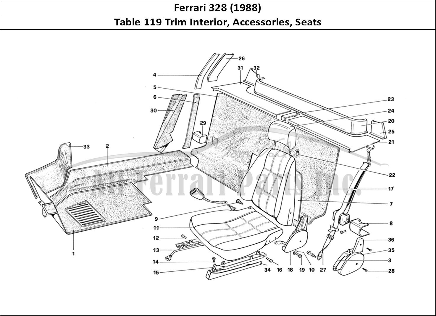 Buy original Ferrari 328 (1988) 119 Trim Interior