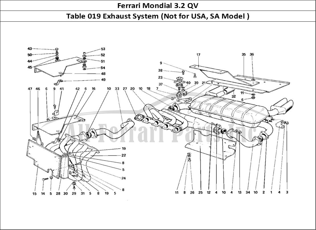 Buy original Ferrari Mondial 3.2 QV 019 Exhaust System