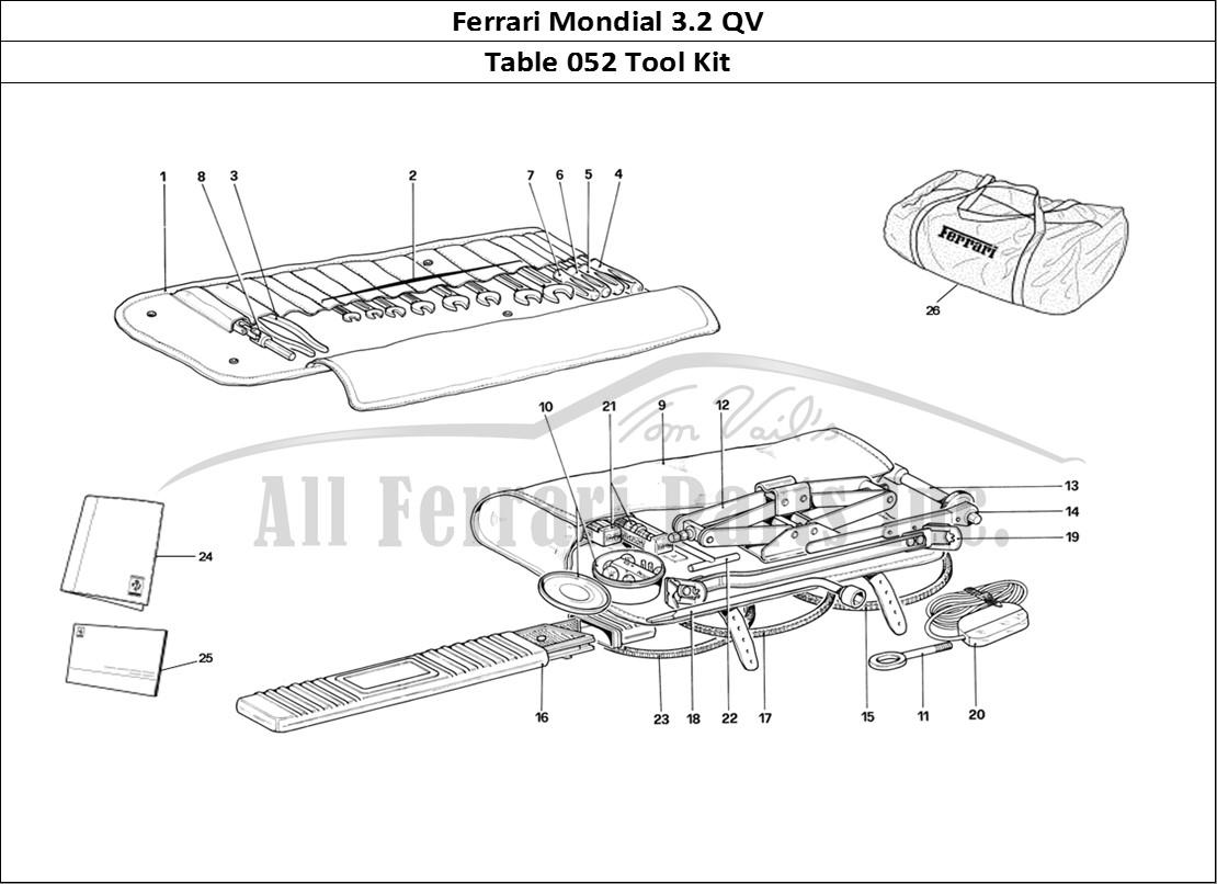 Buy original Ferrari Mondial 3.2 QV 052 Tool Kit Ferrari