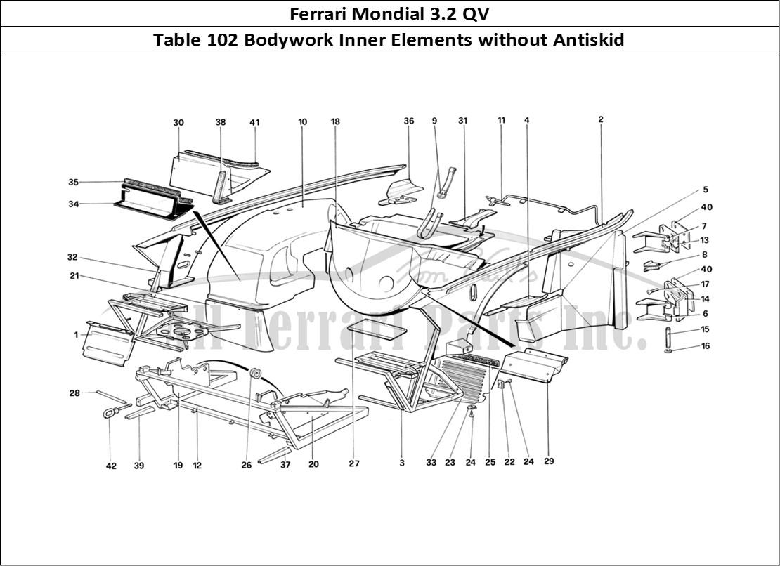 Buy original Ferrari Mondial 3.2 QV 102 Bodywork Inner