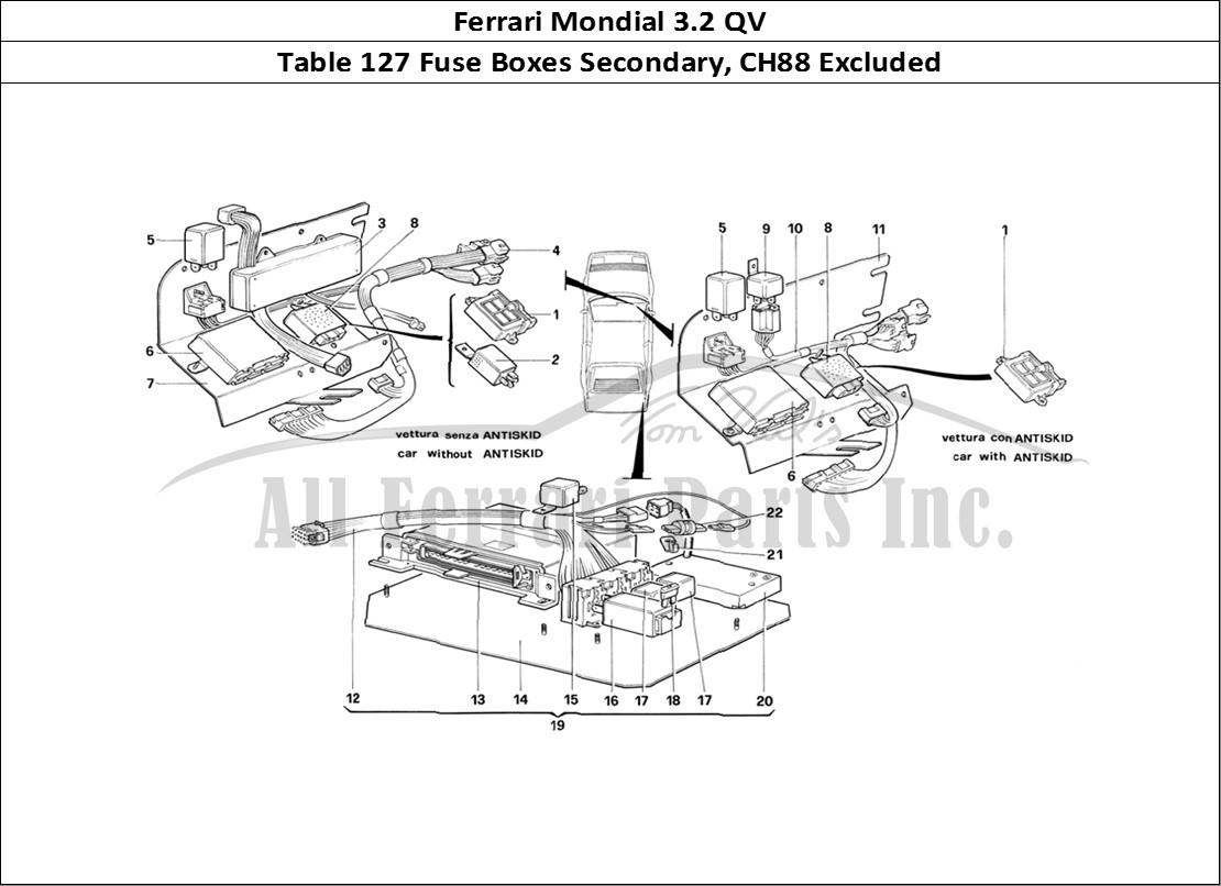 Buy original Ferrari Mondial 3.2 QV 127 Fuse Boxes