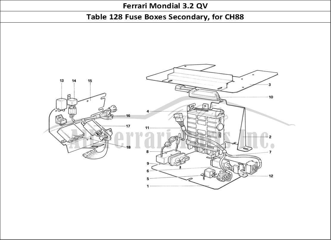 Buy original Ferrari Mondial 3.2 QV 128 Fuse Boxes