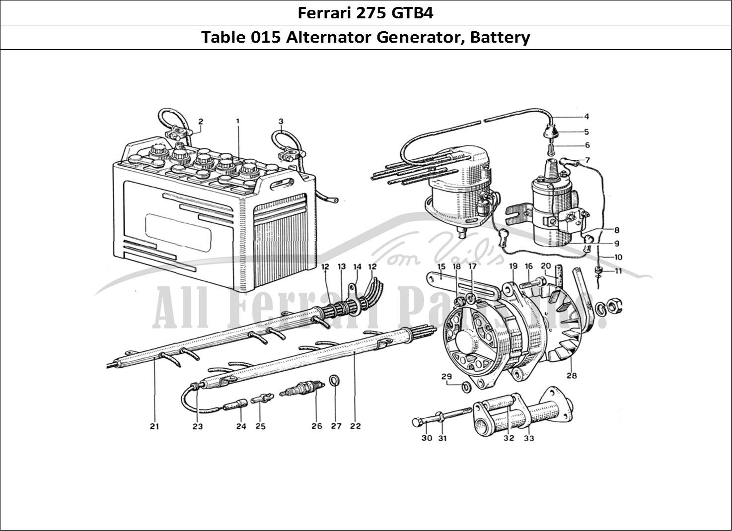 Buy original Ferrari 275 GTB4 015 Alternator Generator