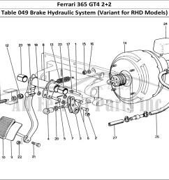 ferrari 365 gt4 2 2 mechanical table 049 brake hydraulic system variant for rhd models  [ 1474 x 1070 Pixel ]