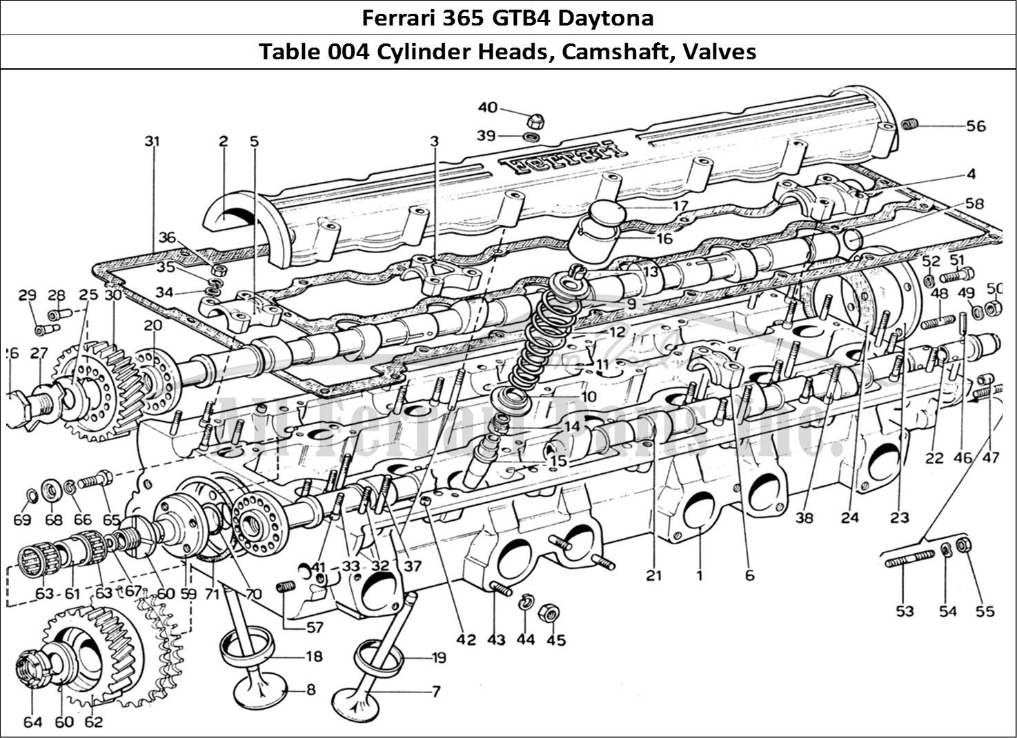 hight resolution of engine heads diagram wiring diagram databasebuy original ferrari 365 gtb4 daytona 004 cylinder heads camshaft