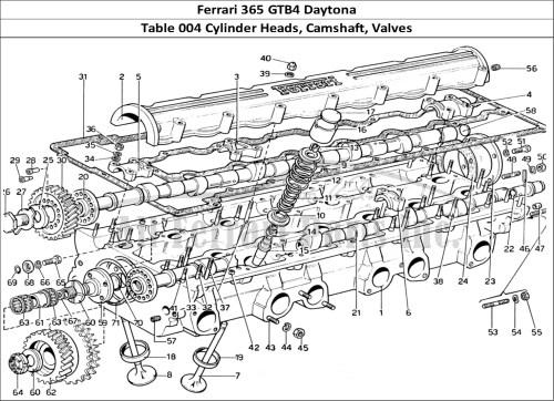 small resolution of engine heads diagram wiring diagram databasebuy original ferrari 365 gtb4 daytona 004 cylinder heads camshaft