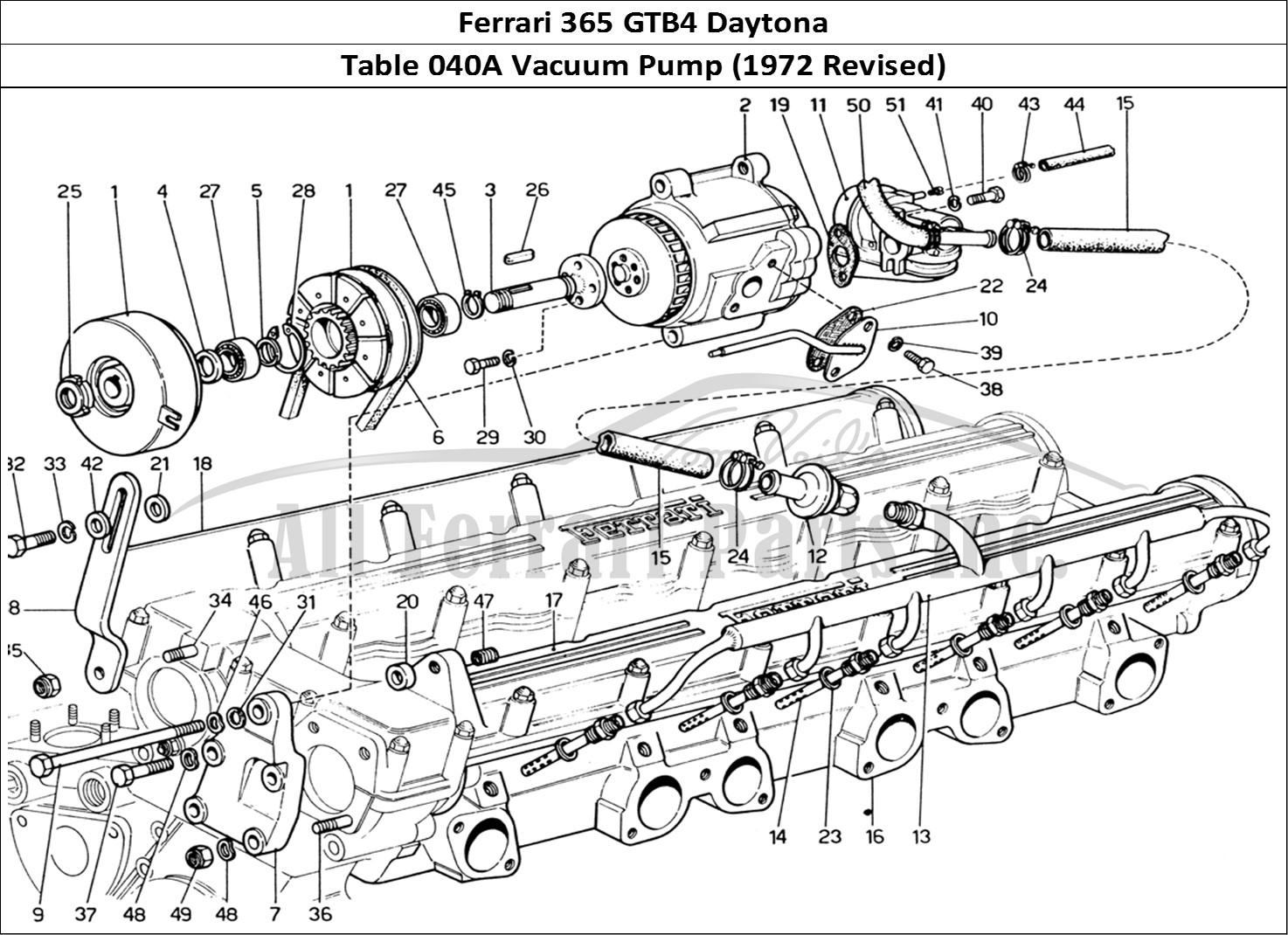 Buy original Ferrari 365 GTB4 Daytona 040A Vacuum Pump