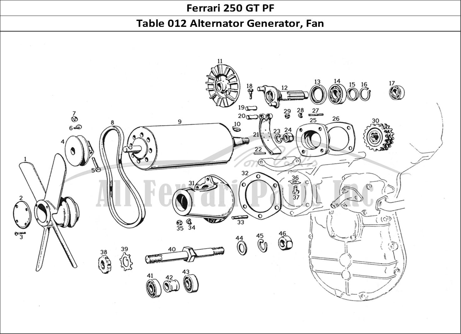 Buy original Ferrari 250 GT PF 012 Alternator Generator