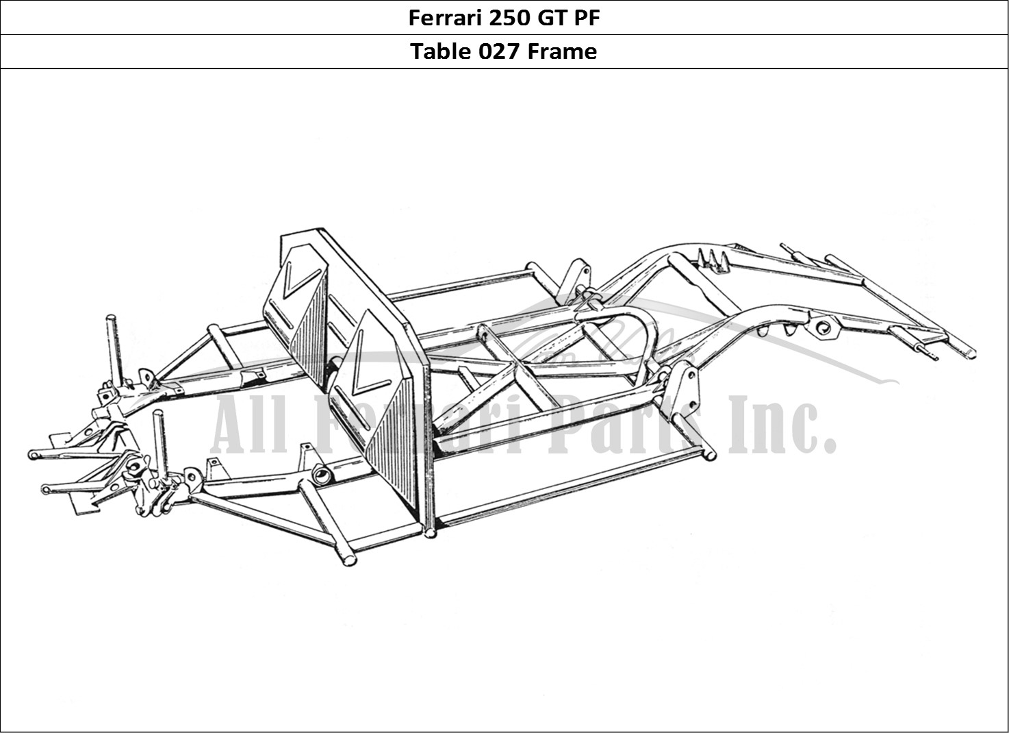 Buy original Ferrari 250 GT PF 027 Frame Ferrari parts