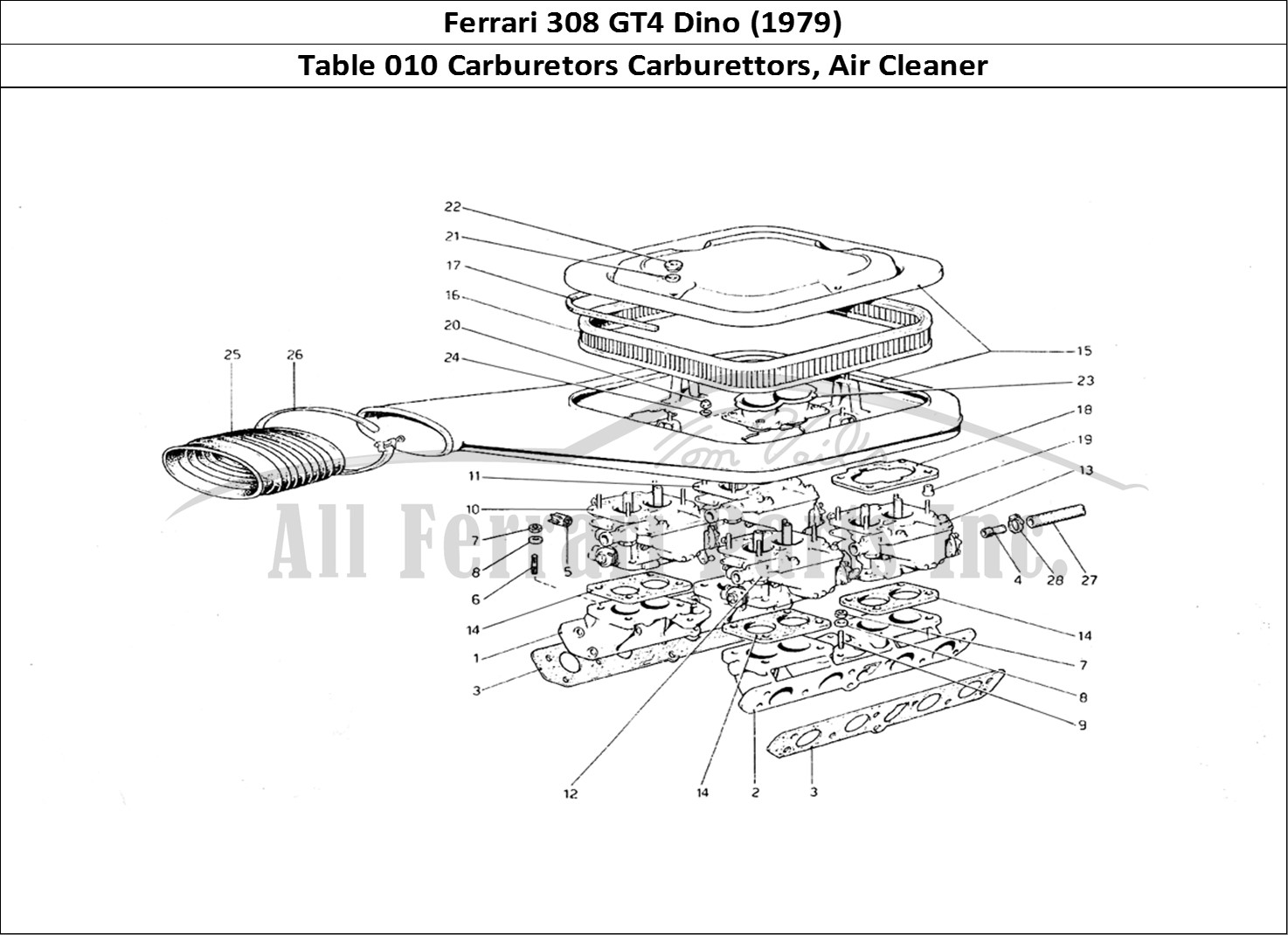 Buy original Ferrari 308 GT4 Dino (1979) 010 Carburetors