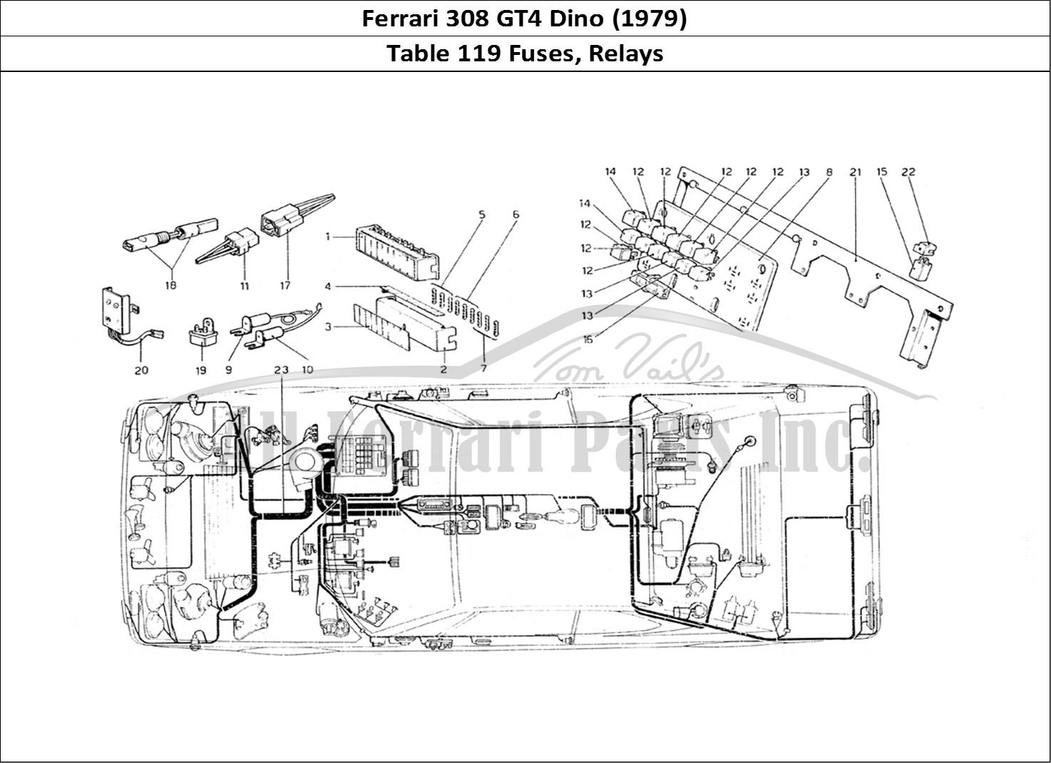 Buy original Ferrari 308 GT4 Dino (1979) 119 Fuses, Relays