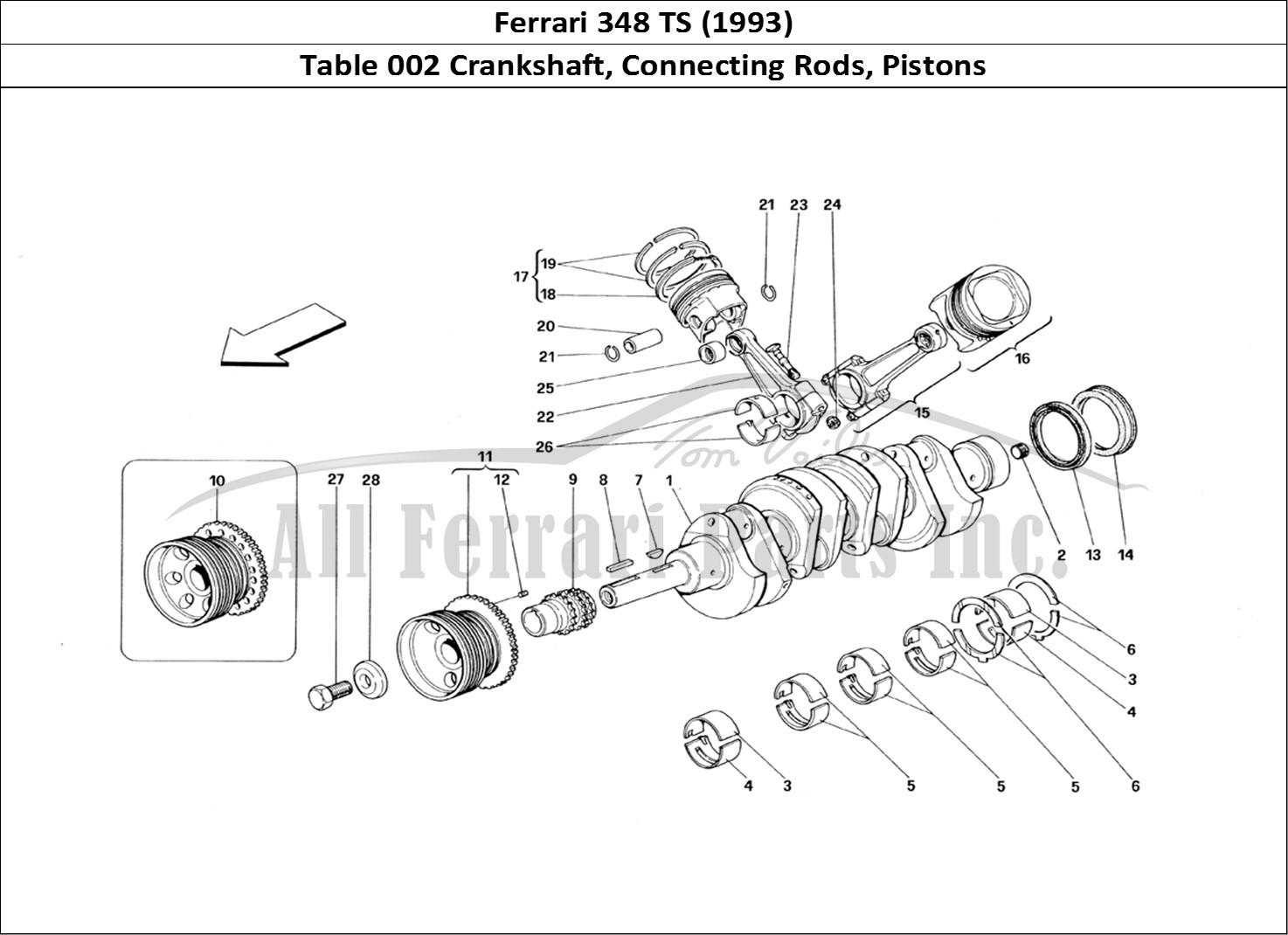 Buy Original Ferrari 348 Ts 002 Crankshaft Connecting Rods Pistons Ferrari Parts