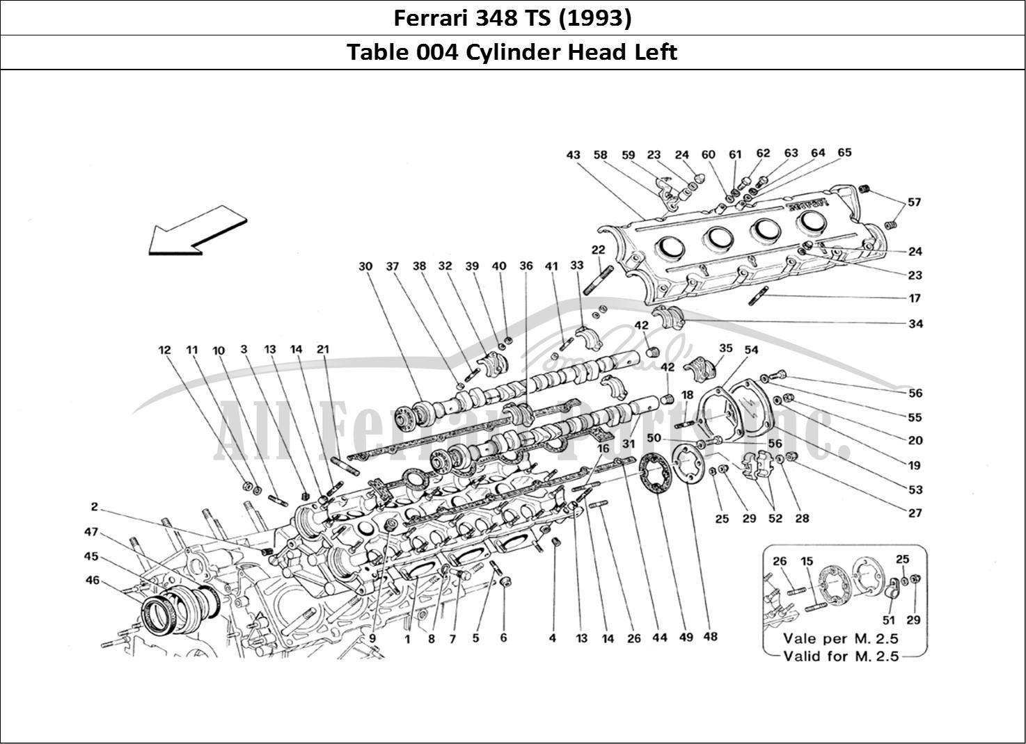 Buy original Ferrari 348 TS (1993) 004 Cylinder Head Left