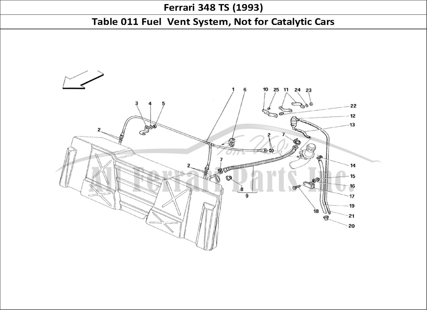 Buy original Ferrari 348 TS (1993) 011 Fuel Vent System