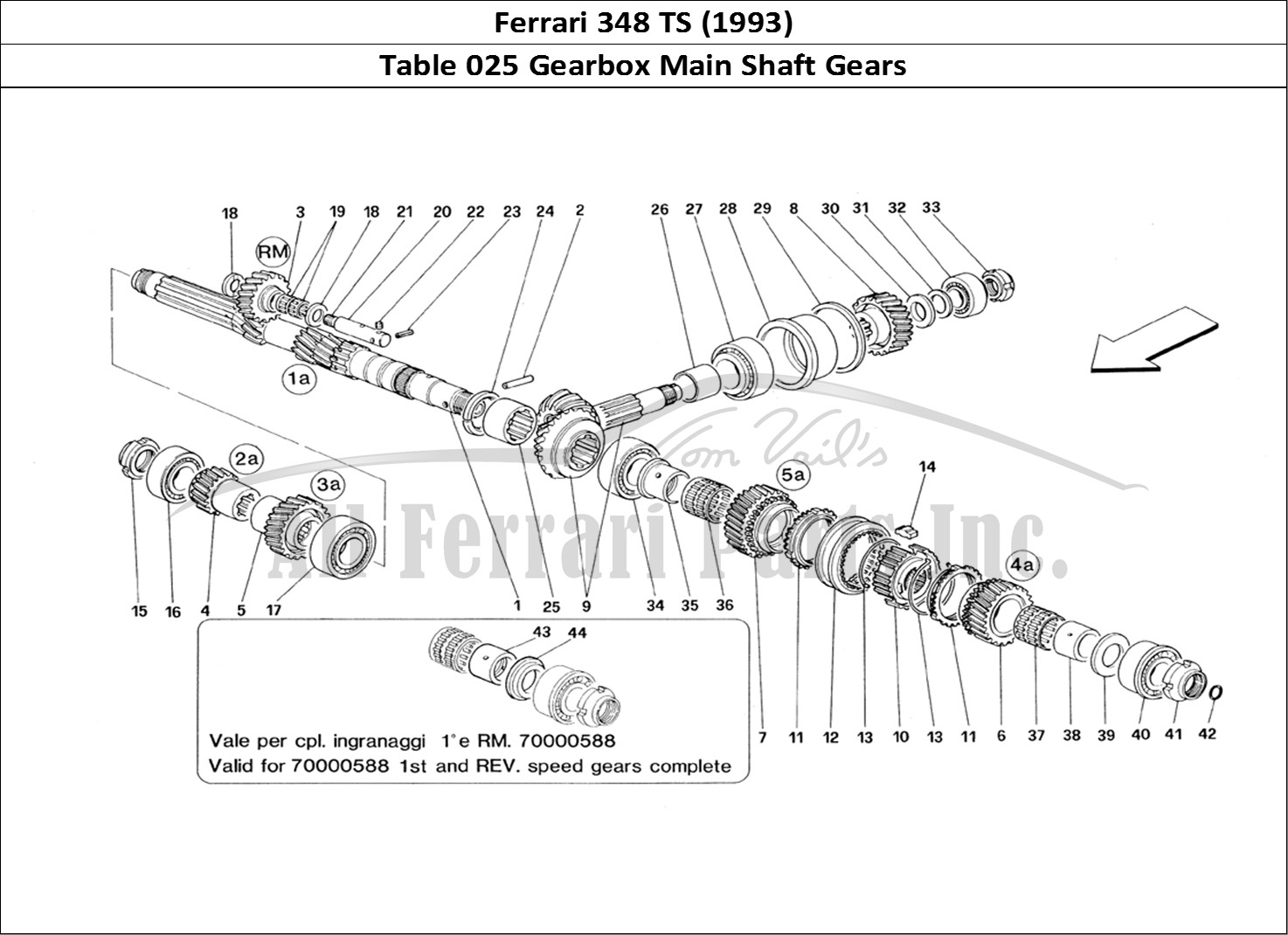 Buy original Ferrari 348 TS (1993) 025 Gearbox Main Shaft