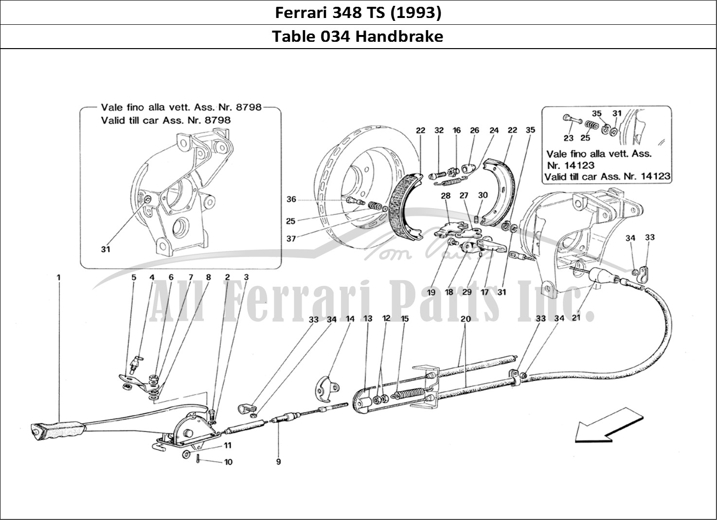 Buy original Ferrari 348 TS (1993) 034 Handbrake Ferrari