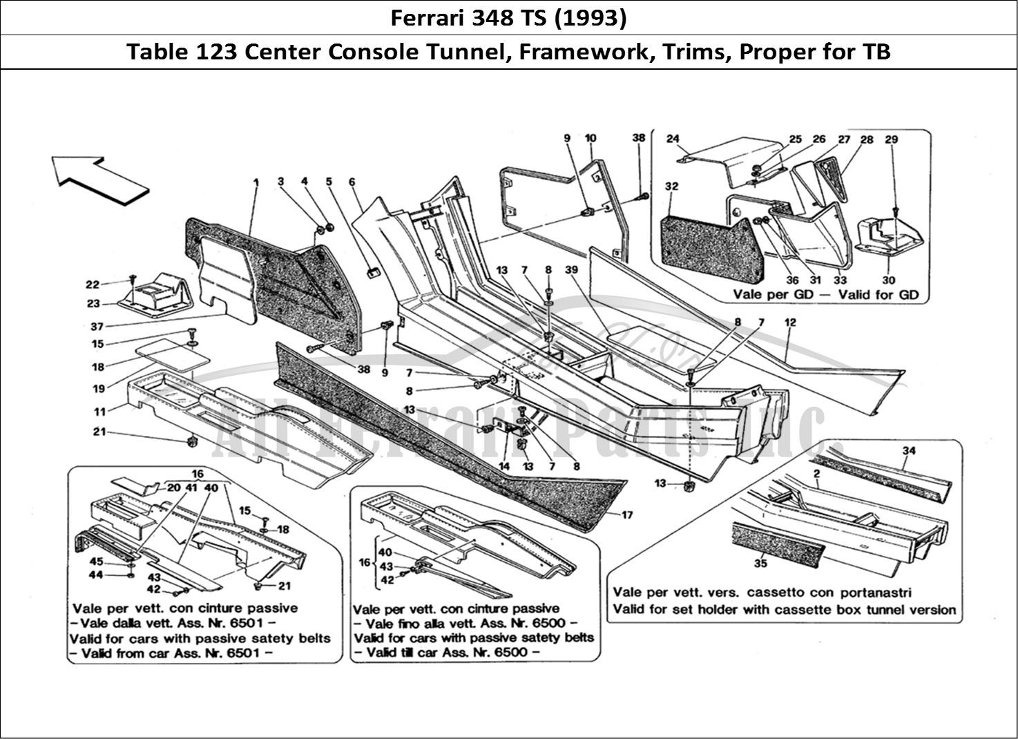 Buy Original Ferrari 348 Ts 123 Center Console