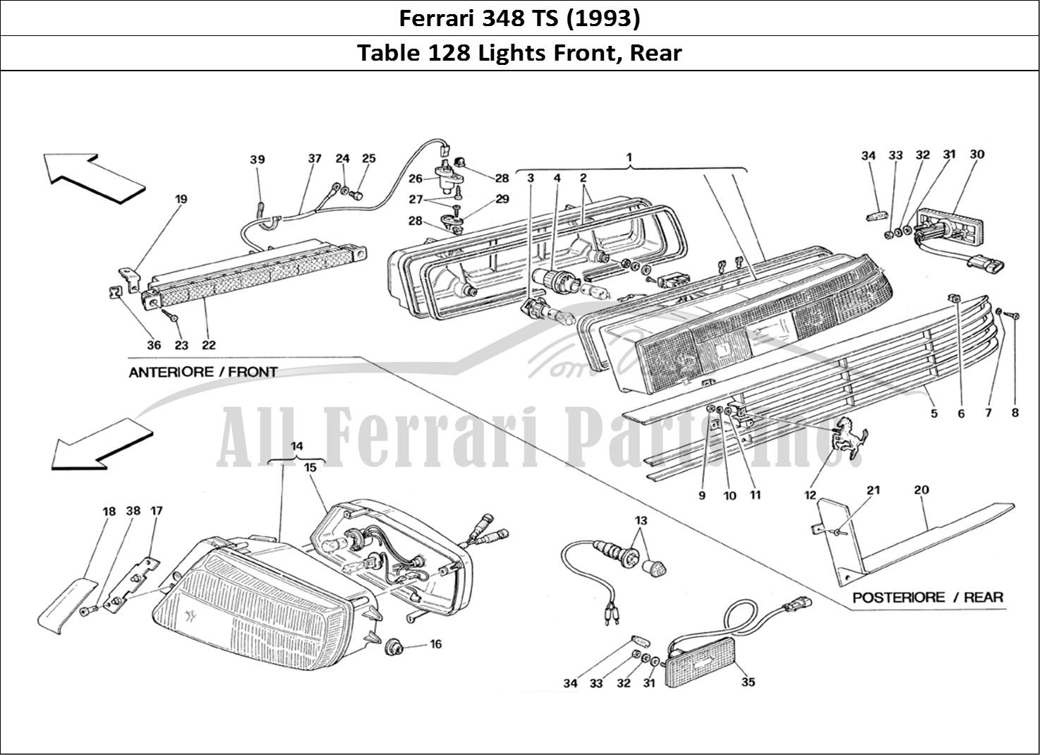 Buy Original Ferrari 348 Ts 128 Lights Front Rear