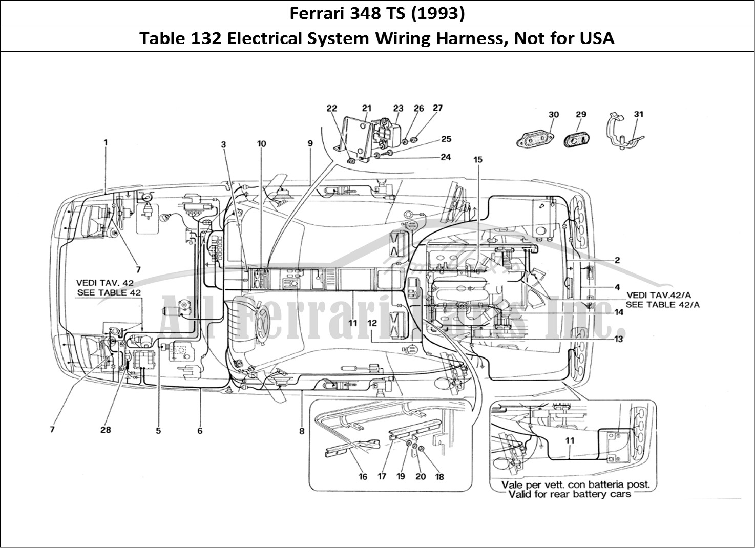 Buy original Ferrari 348 TS (1993) 132 Electrical System