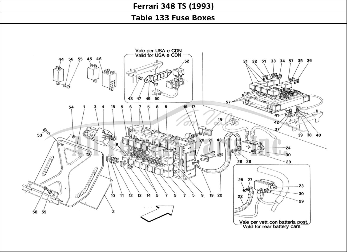 Buy original Ferrari 348 TS (1993) 133 Fuse Boxes Ferrari