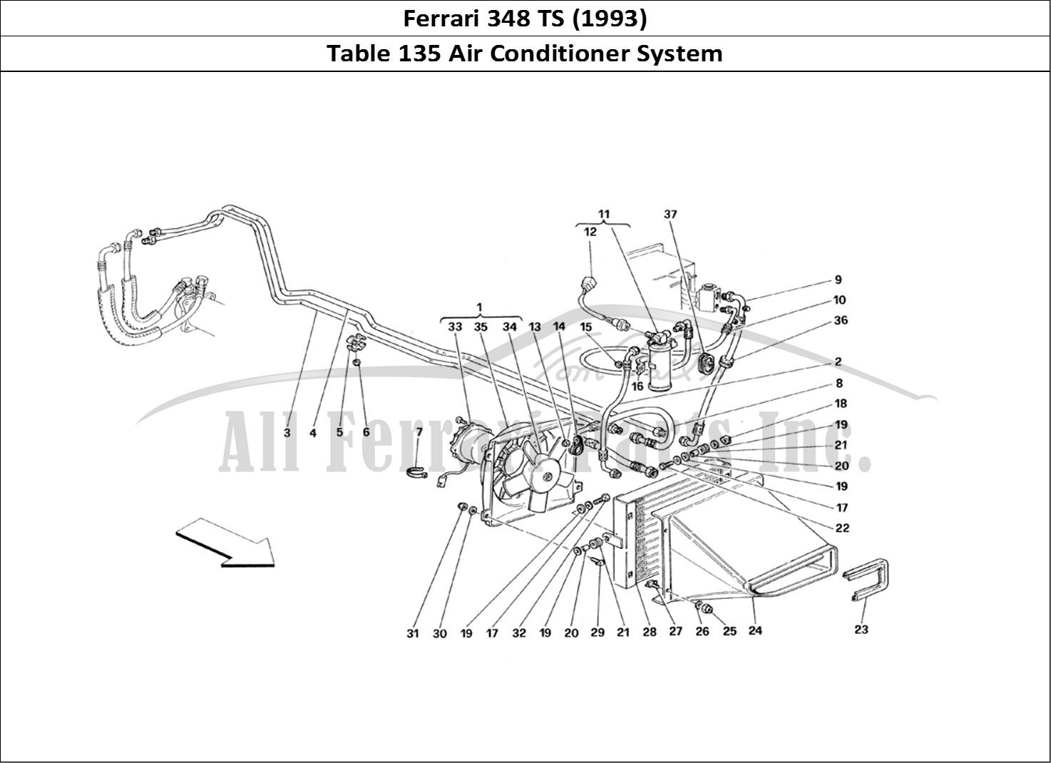 Buy original Ferrari 348 TS (1993) 135 Air Conditioner