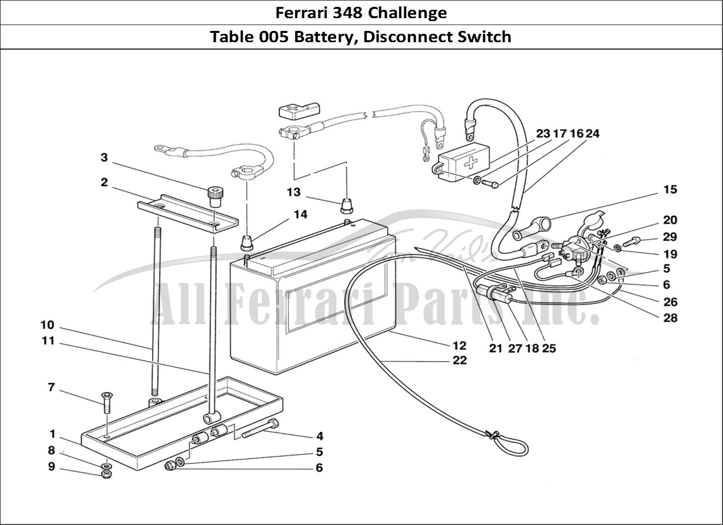 Buy original Ferrari 348 Challenge 005 Battery, Disconnect