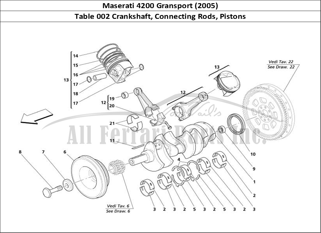 Buy original Maserati 4200 Gransport (2005) 002 Crankshaft
