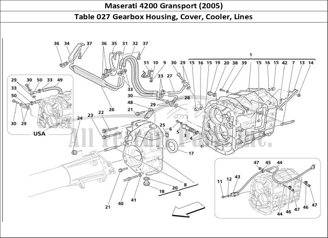 Buy original Maserati 4200 Gransport (2005) 027 Gearbox