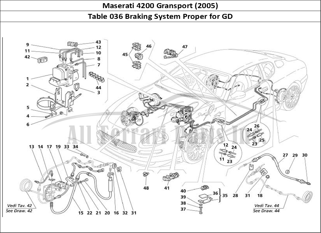 Buy original Maserati 4200 Gransport (2005) 036 Braking