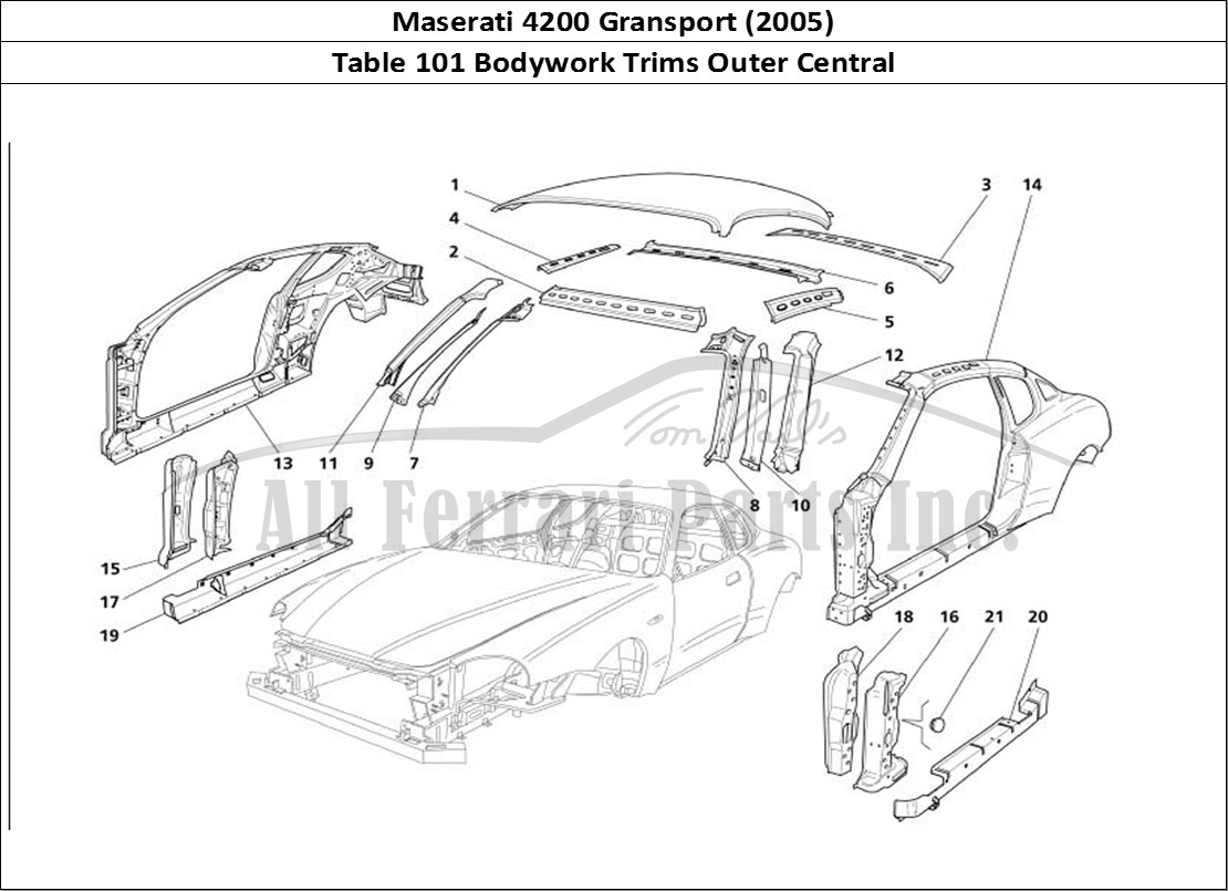 Buy original Maserati 4200 Gransport (2005) 101 Bodywork